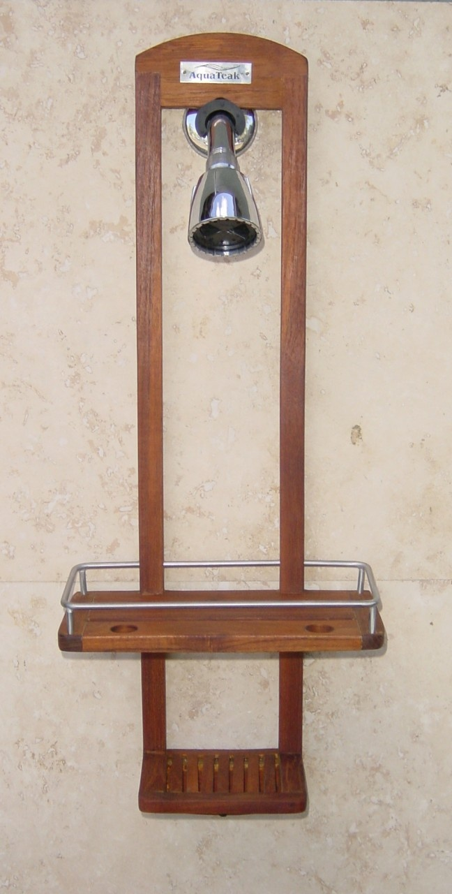 Teak Shower Caddy Bathroom Accessories Pinterest Teak Bathroom Storage And Bathroom