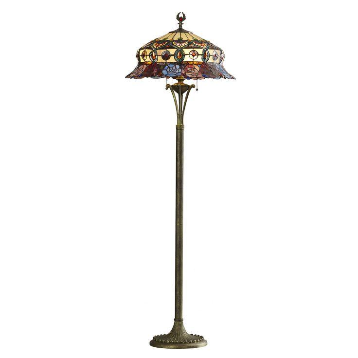 """Chipley Scalloped 65"""" Tiffany Floor Lamp"""