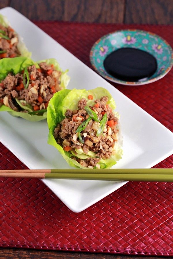 Chinese Lettuce Wraps With Ground Turkey - A flavorful, fast and healthy recipe made all in one wok! Turkey and fresh vegetables fill each wrap   jessicagavin.com
