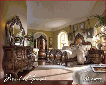 Aico Bedroom Set Chateau Beauvais Ai 750 Pretty I Like The Curves On The Dresser Rooms