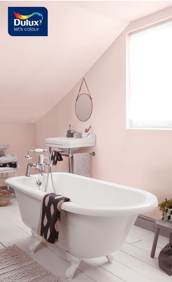 Pink And Grey Bathrooms Are All The Rage The Deep Grey Trim Adds Sophistication To The Space And Ensures It Suits T Bathroom Red Grey Bathrooms Bathroom Decor