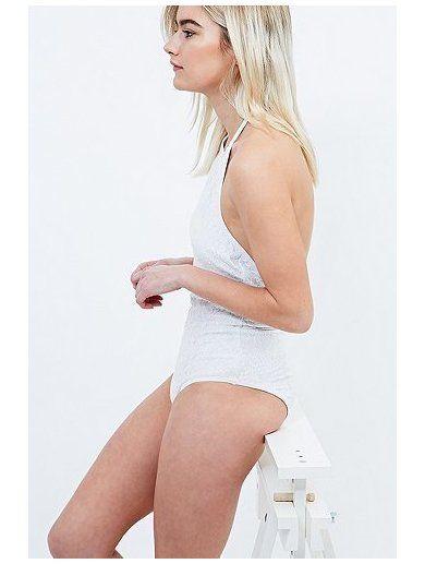 Minkpink Believers of Mermaids Swimsuit in White