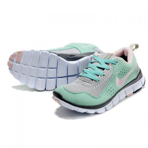 Nike free run 30 v4 blue green white dress