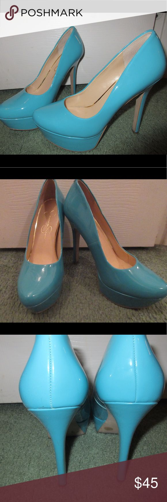 Jessica Simpson pumps!! Perfect condition. Great for spring or summer. Love how bright these are!! Jessica Simpson Shoes Heels