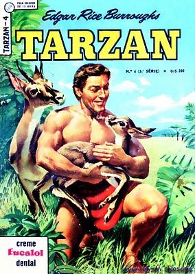 TARZAN, herói criado por EDGAR RICE BURROUGHS, lançado pela Editora Brasil-América (EBAL) S/A em janeiro de 1966.