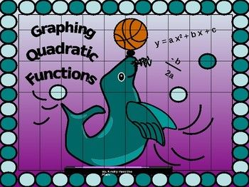 Pleased to share my power point on Graphing Quadratic Functions with other teachers of mathematics who are looking for a clear presentation with a creative flare! * The following lesson begins with the Standard Form of a Quadratic Function, explaining how it is written and the significance of a, b, and, c. ^