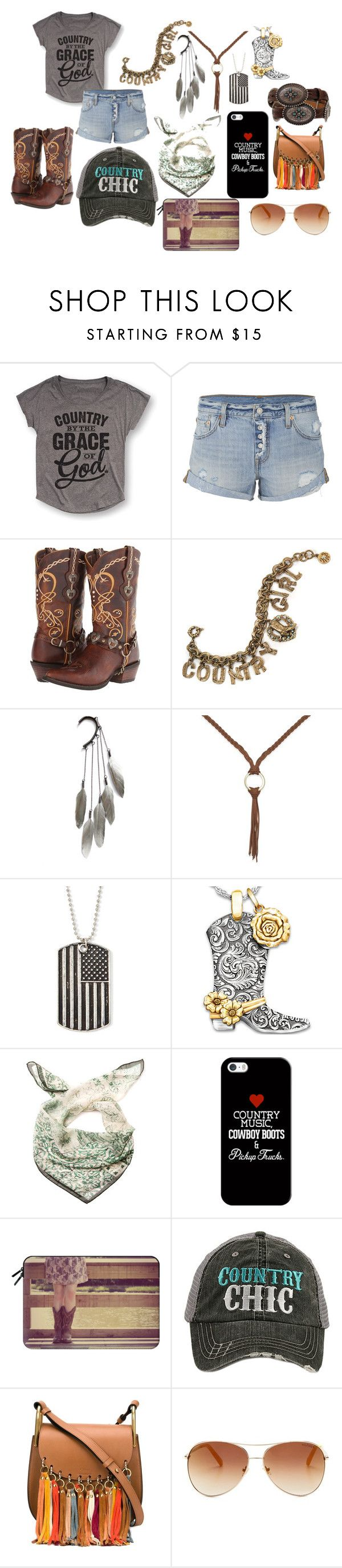 """""""Country Chic"""" by kayley2103 ❤ liked on Polyvore featuring Levi's, Durango, Sweet Romance, Anni Jürgenson, INC International Concepts, Arizona, The Bradford Exchange, Marina D'Este, Casetify and Katydid Collection"""