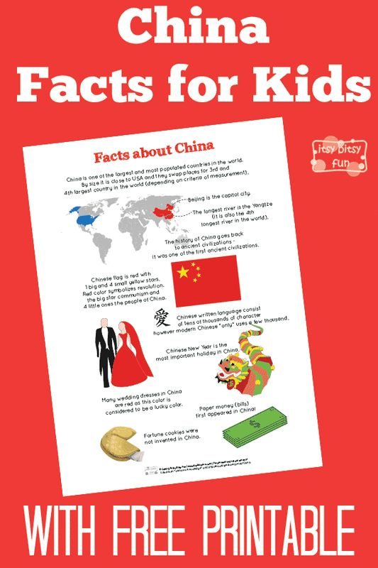 Fun China Facts for Kids With Free Printables