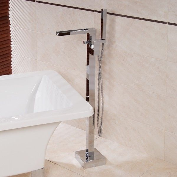 The Sanctuary freestanding bath shower mixer is a state of the art design waterfall tap manufactured from solid brass with a chrome finish.