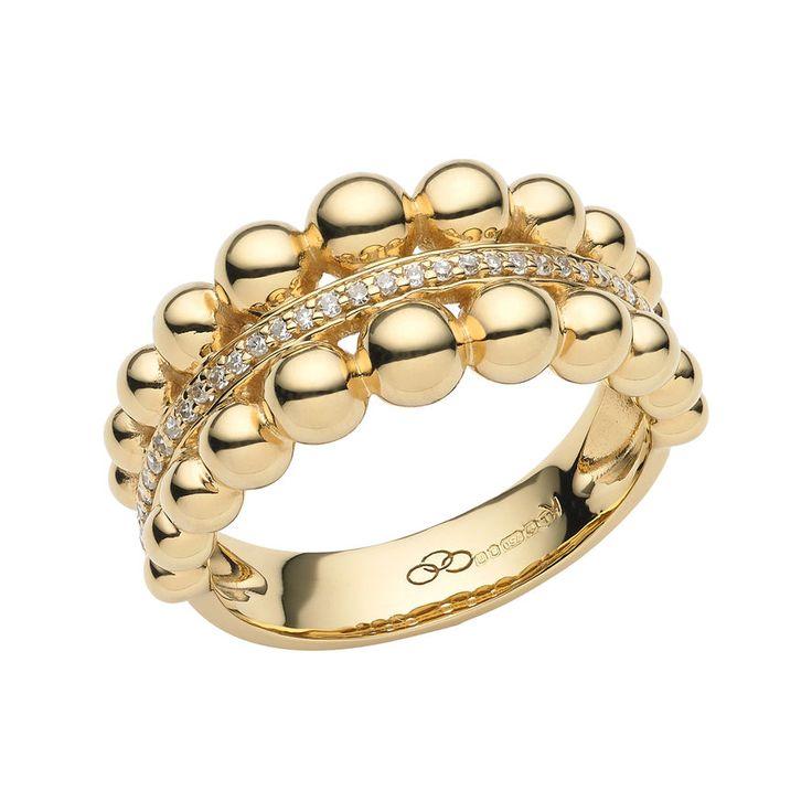 Effervescence Bubble Yellow Gold Diamond Ring, Links of London Jewellery....x