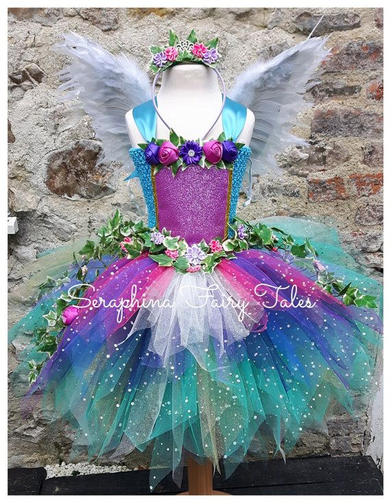 Forest Fairy Tutu Dress. Ivy & rose glitter by SeraphinaFairyTales – Kindermode