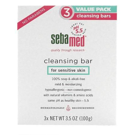 Sebamed Soap Free Cleansing Bar - 3 ea