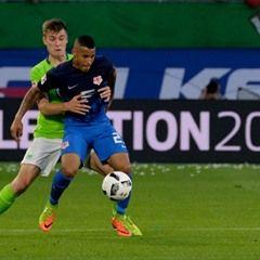German Bundesliga football match -  VfL Wolfsburg vs Eintracht Braunschweig