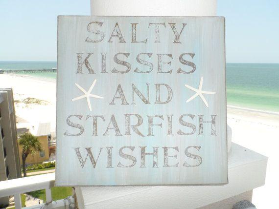 Rustic weathered beach sign, beach decor