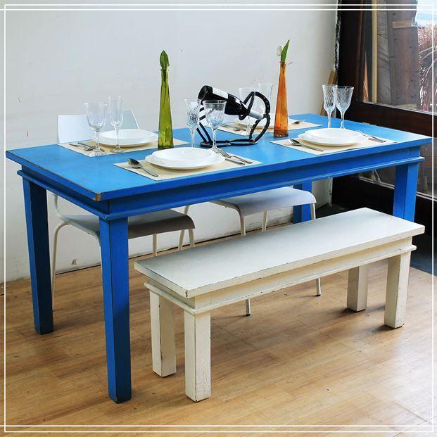 Mesa-de-jantar-Azul-Linha-Retro-160m