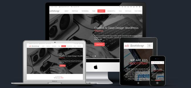 eds #Bootstrap One Page Parallax #WordPress Theme ( edsbootstrap pro )