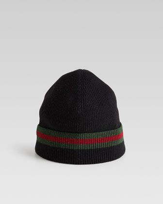 Knit Cap, Black by Gucci at Neiman Marcus.