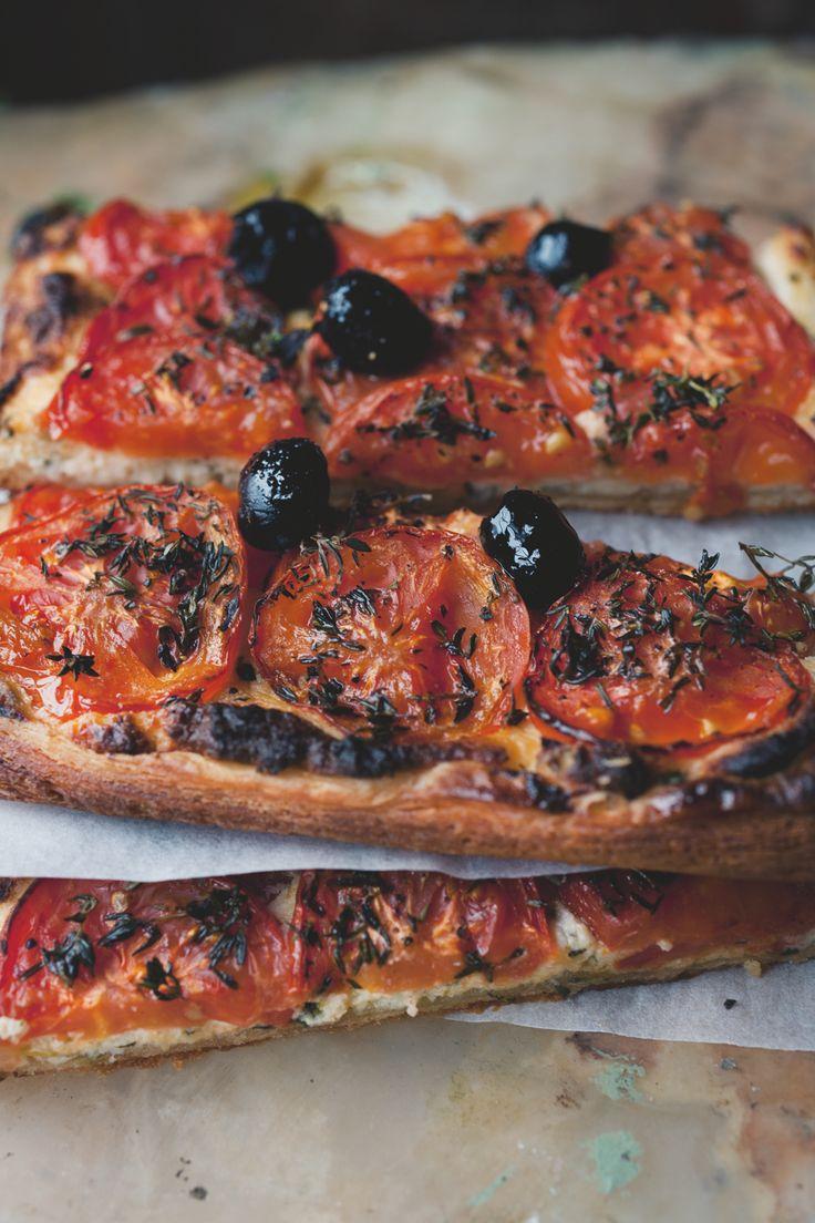 Ottolenghi tomato almond tart from Plenty More