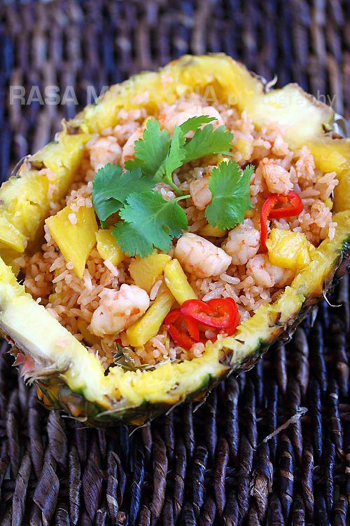 Pineapple Fried Rice #Thai #Shrimp