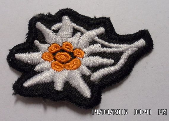 WWII german mountain troops Edelweiss by embroiderypapatedy
