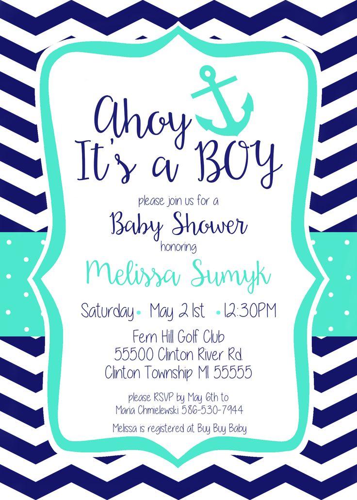 baby shower invitations baby boy shower nautical baby themed baby