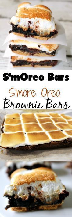 Smore Oreo Brownie Bars - Smoreo Bars