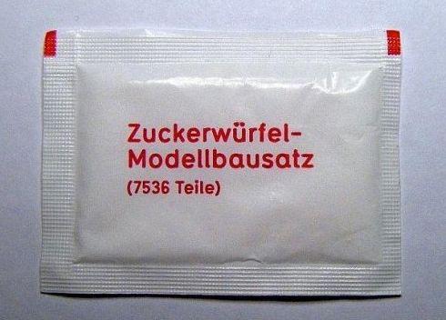 Zuckerwürfel Modellbaussatz