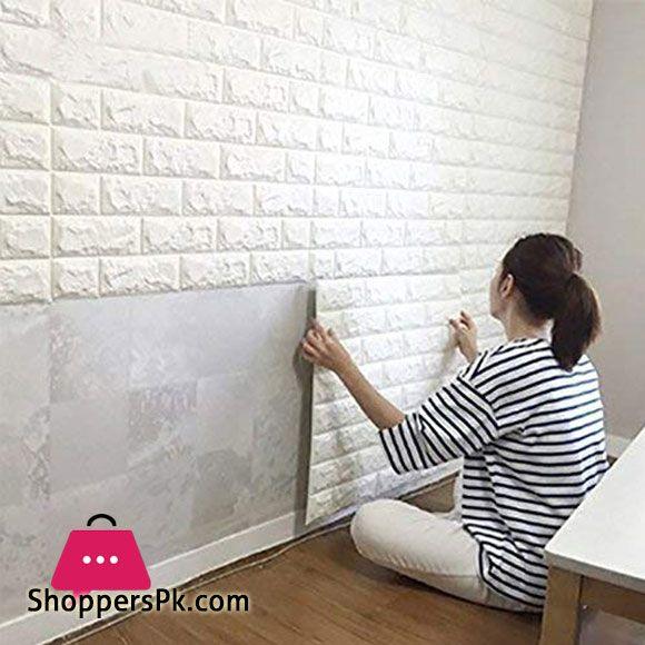 Buy Pvc 3d Foam Brick Wall Panel 77 X 70 Cm 1 Pcs At Best Price In Pakistan Brick Wallpaper Bedroom White Brick Wallpaper White Brick Walls