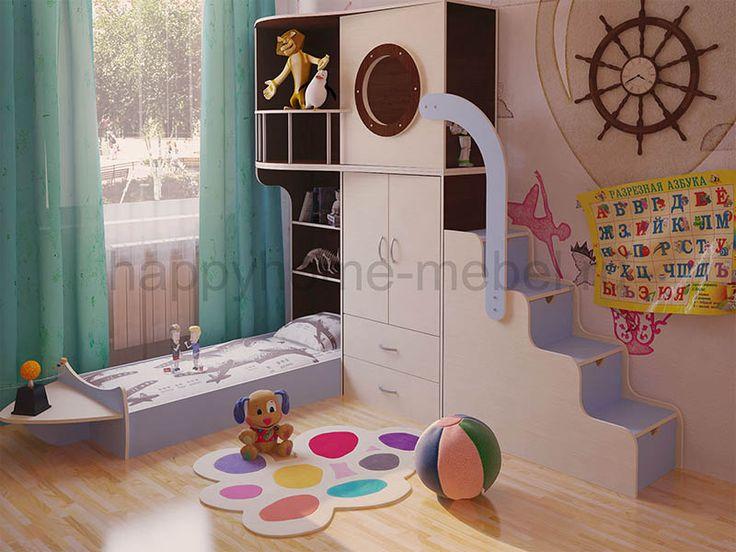 Кровать-чердак Бамбини 20 в интернет - магазине Happy home