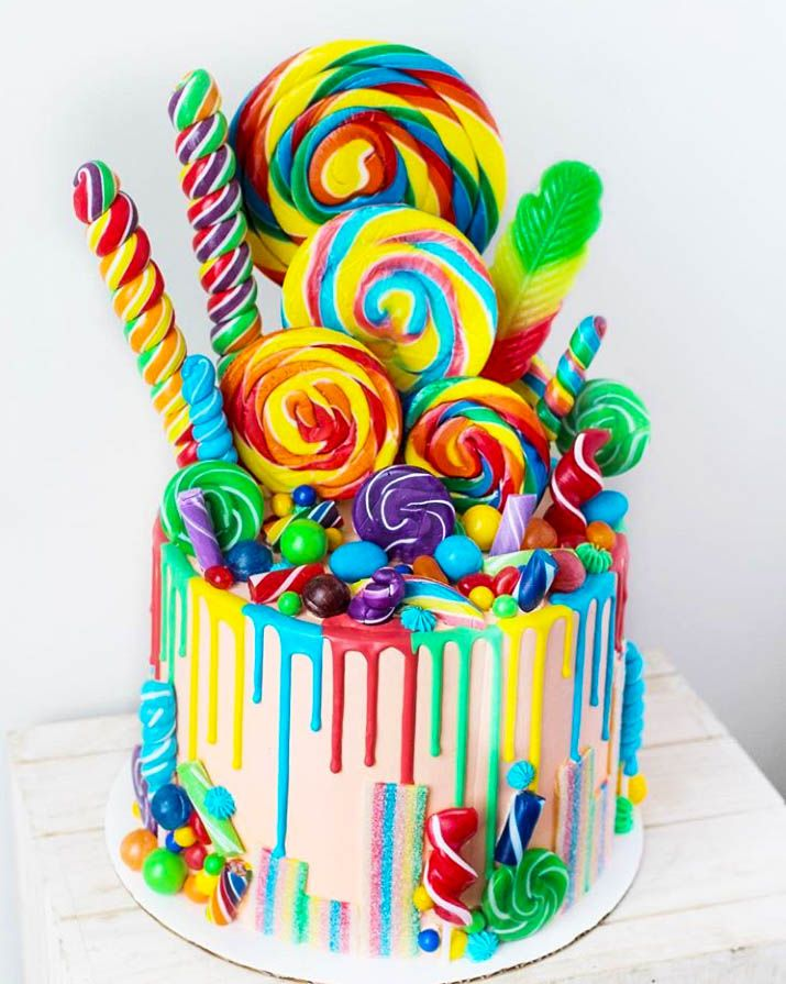 March Cake Decorator Spotlight Find Your Cake Inspiration Candy Birthday Cakes Lollipop Cake Candy Land Birthday Party