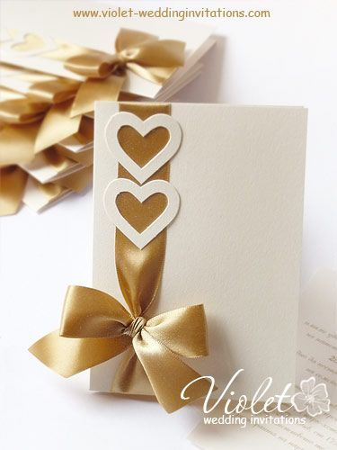 """Coquette"" Wedding Invitations, Violet Handmade Wedding Invitations:"