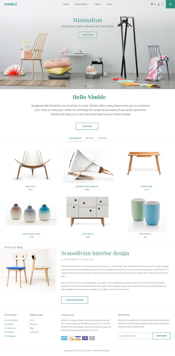 Nimble Homepage Design