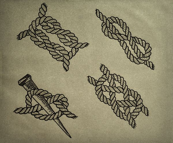 Sailor Knot Tattoo by Guilherme Hass, via Behance