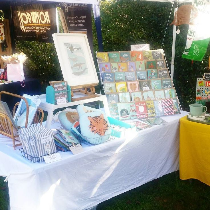All set up for Mapperley Makers and Vintage Market today come find us at Haywood Community Centre until 4pm we're sharing a gazebo with my other business @little_yellow_table