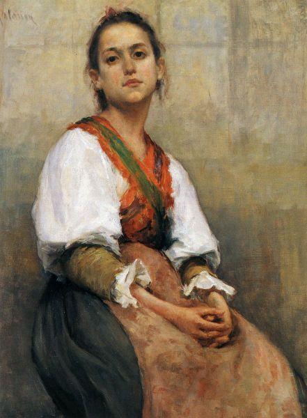 PEKKA HALONEN  Italialaistyttö (Italian Girl, 1893-94)