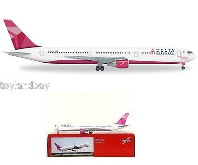 Vintage Manufacture 2650: Herpa 527002 Delta Air Lines Boeing 767-400Er 1:500 Scale Breast Cancer Pink -> BUY IT NOW ONLY: $42.99 on eBay!