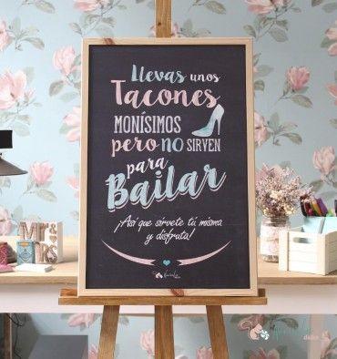 Pizarra Tacones y Baile
