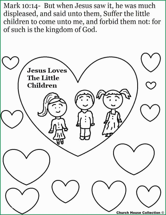 32++ Jesus loves the little children coloring page free download