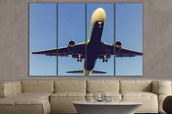 5 Panel Set Airplane Plane Canvas Art Aircraft Home Print Etsy Canvas Art Octopus Wall Art Airplane Art