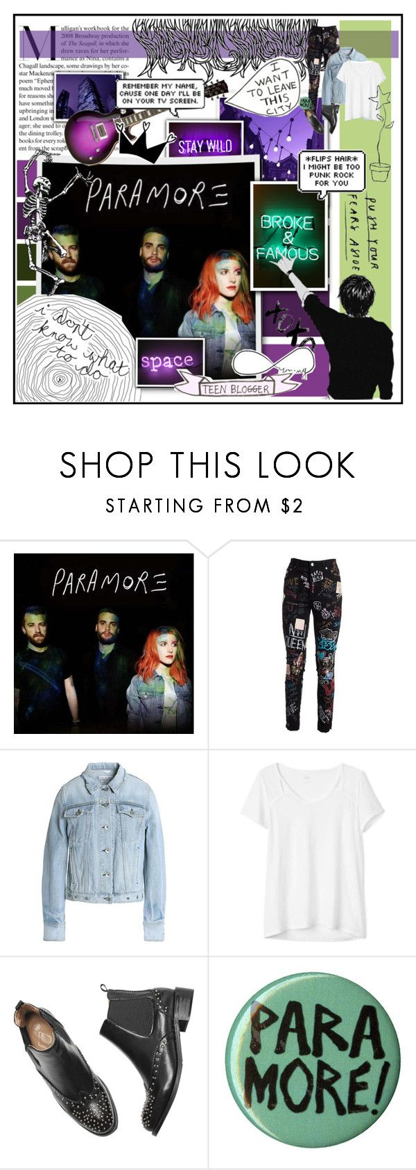 """Paramore (2014) // Battle of the Music Artists // Round 4"" by alightinthedarkwood ❤ liked on Polyvore featuring Dolce&Gabbana, rag & bone/JEAN, Gap and Hot Topic"