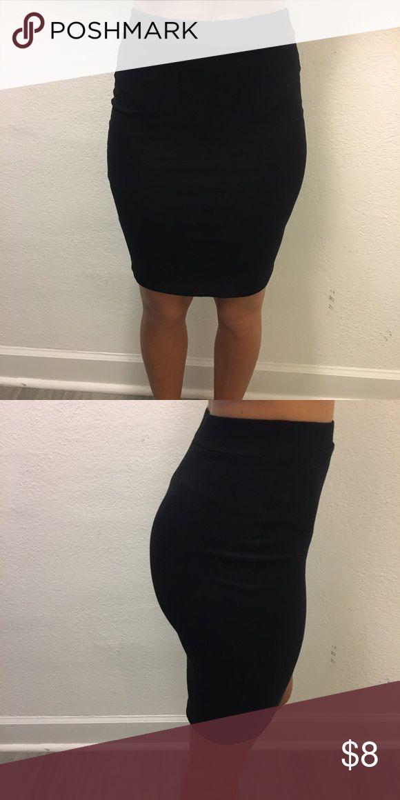 Short Black Skirt Plain tight black skirt Forever 21 Skirts Mini