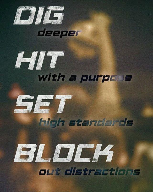 Dig Hit Set Block!    Volleyball motivation!