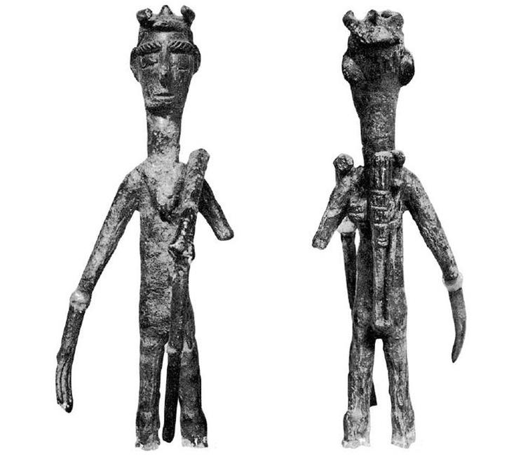 Sardinia, bronze sculpture representing warrior archer