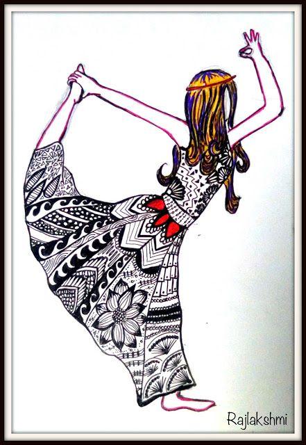 Zentangle - Yoga Girl