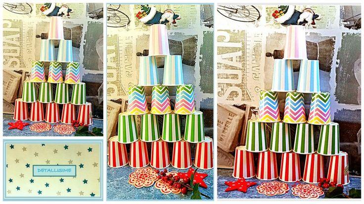 Nuestro árbol de Navidad hecho con nuestros vasos... pedidos y catálogo: detallisime@yahoo.es
