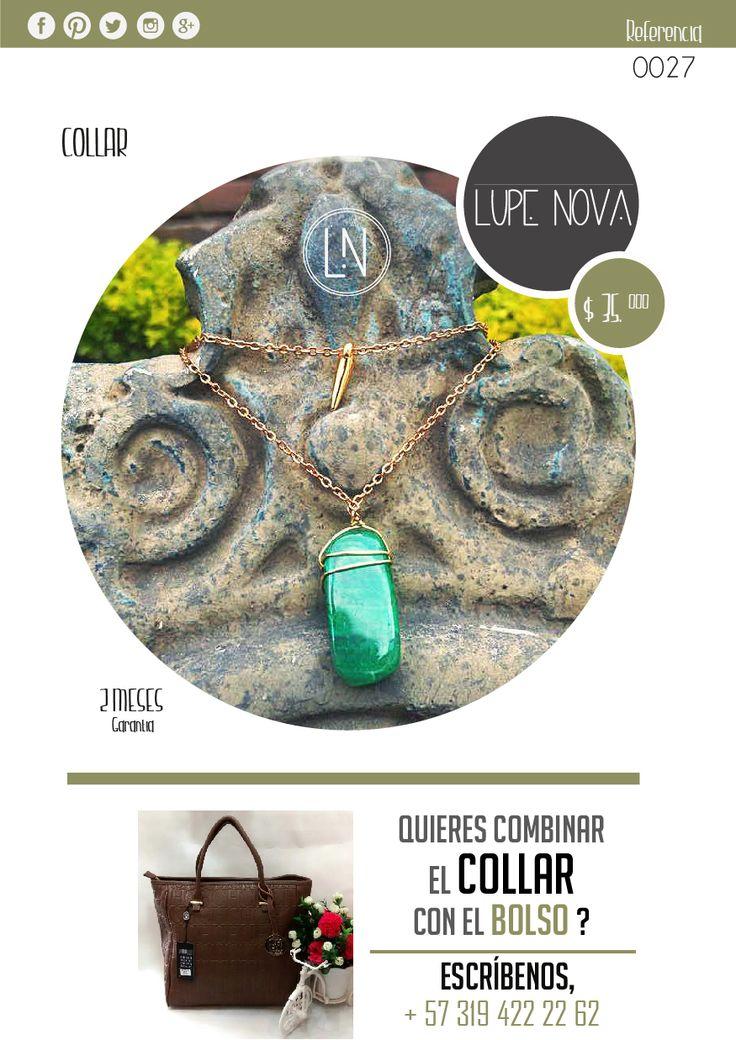 LUPE NOVA arma tu pinta!! Referencia 0028 Collar con Piedra natural + Dije Oro golf $35.000 https://www.facebook.com/LupeINova?ref=hl