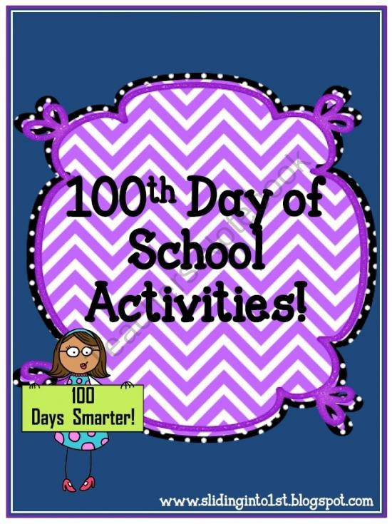 Activities for the 100th Day of School product from Sliding-into-First on TeachersNotebook.com