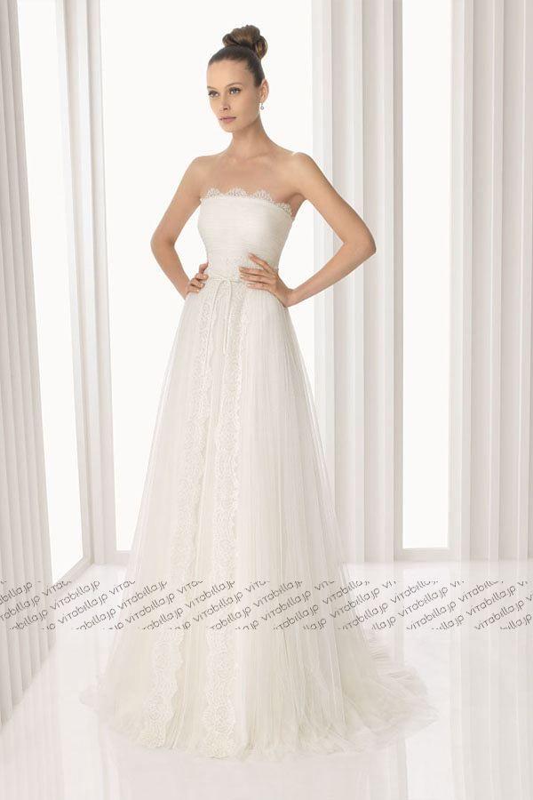 30800 エンパイア ウェディングドレス ビスチェ コートトレーン ネッティング アイボリー 023166037003