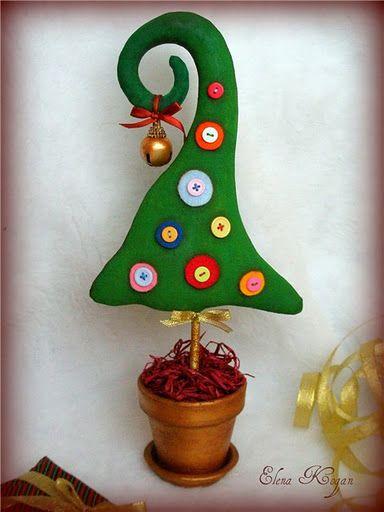 Manualidades Navidad en fieltro con moldes, papá Noel, Renos, etc | Divertidas de Navidad