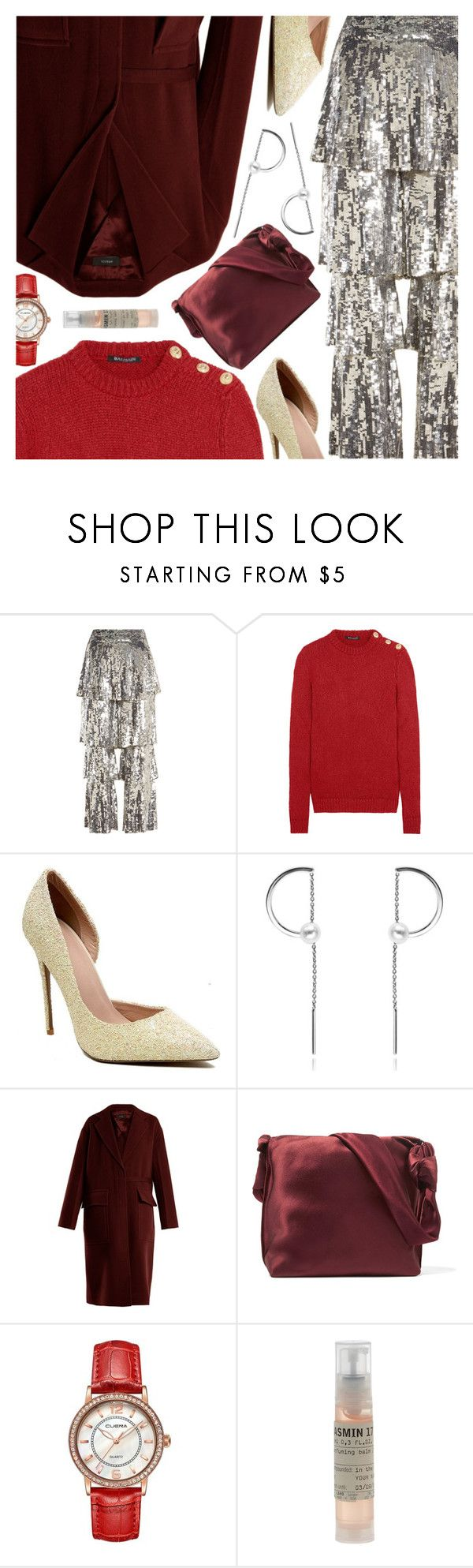 """""""Holiday Party Ready FT. Rosegal"""" by amberelb ❤ liked on Polyvore featuring Osman, Balmain, Joseph, The Row and Le Labo"""